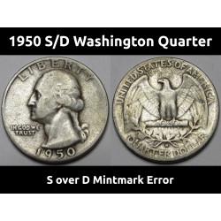 1950 S/D Washington Quarter...