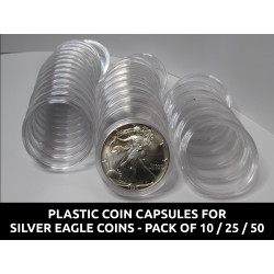 Plastic coin capsules for...